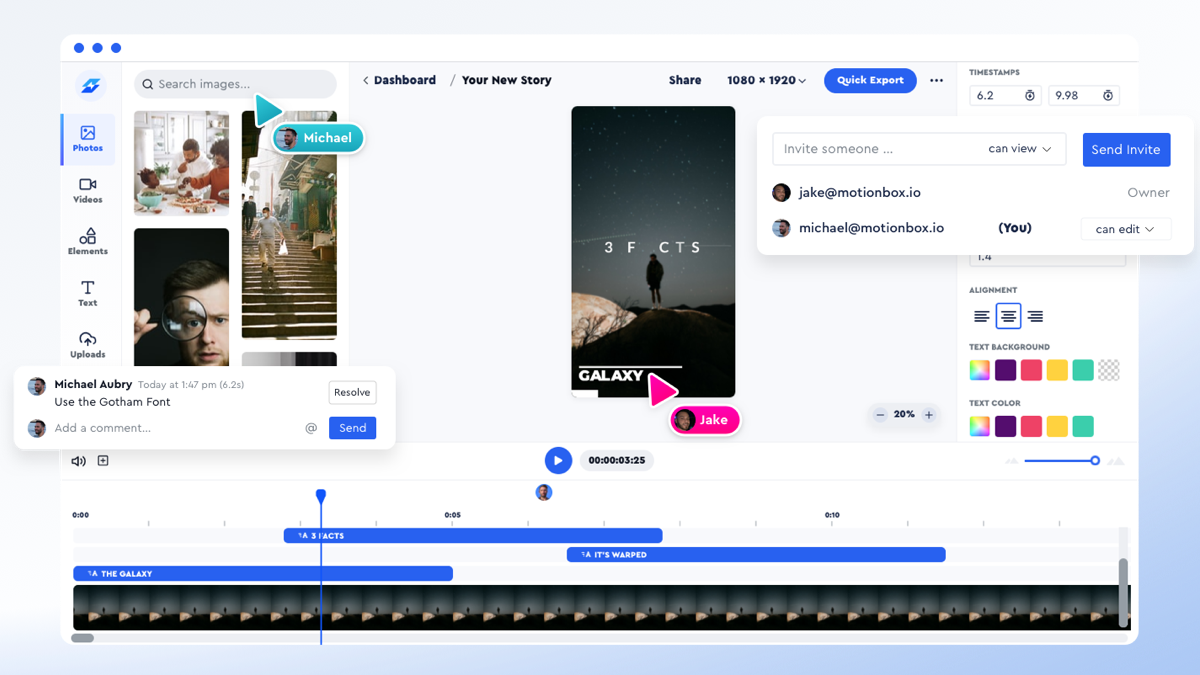 Motionbox - The collaborative video editing and motion graphics tool for real estate agents
