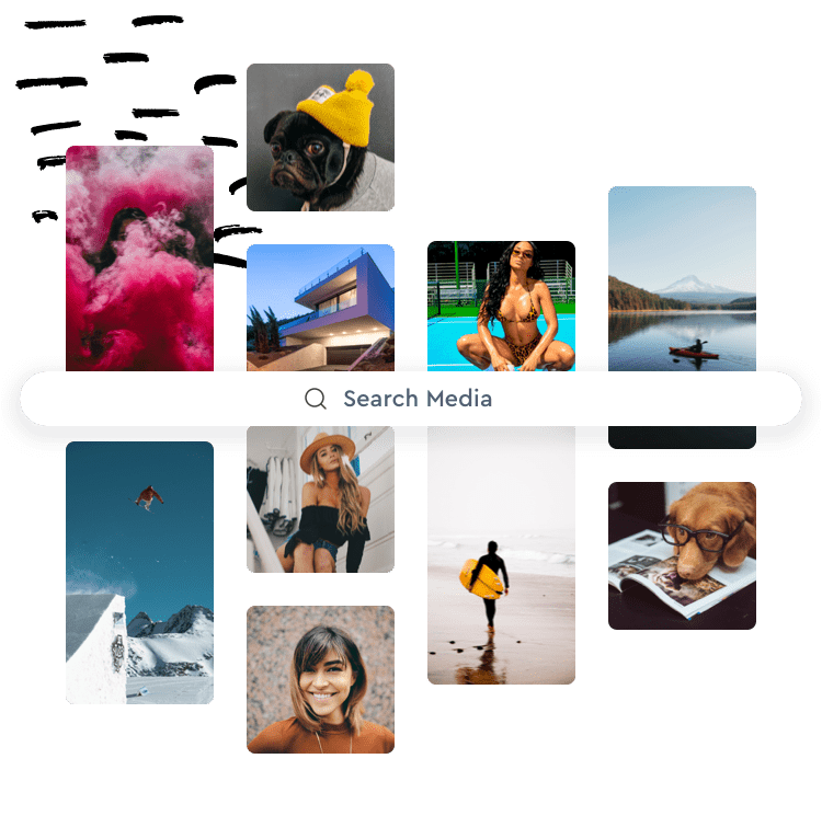 content within Motionbox using unsplash
